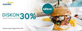 Diskon 30% di Excelso dengan Kartu Kredit Mandiri