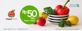 Hemat Rp 50.000 di Happy Fresh dengan Kartu Kredit Standard Chartered