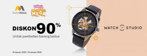 Diskon 90% untuk Pembelian Kedua di Watch Studio dengan Kartu Kredit Mega