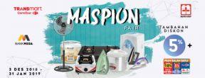 Diskon Tambahan 5% Maspion Fair Transmart dengan Kartu Kredit Mega