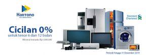 Cicilan 0% di seluruh gerai Hartono Elektronika dengan Kartu Kredit Standard Chartered