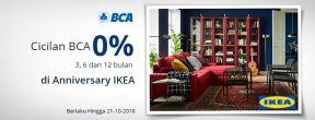 Cicilan BCA 0% 3, 6 dan 12 bulan di Anniversary IKEA dengan Kartu Kredit BCA