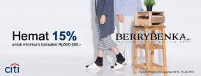 Hemat 15% di Berrybenka dengan kartu kredit Citibank