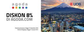 Diskon 8% di Agoda dengan Kartu Kredit UOB