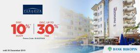 Diskon 10% rooms + Diskon hingga 30% F&B di Parador Hotels & Resorts dengan menggunakan Kartu Kredit Bukopin