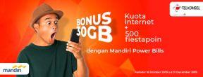 Double Kuota Internet Hingga 50GB dengan Mandiri Power Bills