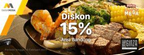 Diskon 15% di Ginza Teppanyaki dengan Kartu Kredit Mega