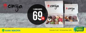 Omija Harga Khusus 1 Lusin Rp 69.000 dengan Kartu Kredit Bukopin