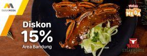 Diskon 15% di Suis Butcher dengan Kartu Kredit Mega