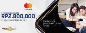 MASTERCARD Ecommerce Protection hingga Rp 2.800.000 MNC Kartu Kredit