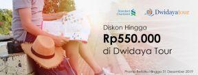 Diskon Hingga Rp550.000 di Dwidaya Tour dengan Kartu Kredit Standard Chartered