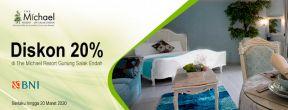 Diskon 20% di The Michael Resort Gunung Salak Endah dengan Kartu Kredit BNI