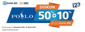 Diskon 50% + 10% POLO dengan Kartu Kredit BRI