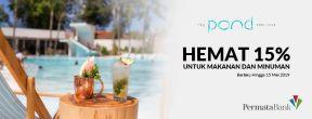 Hemat 15% untuk Makanan dan Minuman di The Pond Pool Club dengan Kartu Kredit Permata