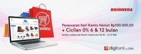 Kamis Hemat Rp100.000 di Bhinneka.com dengan Kartu Kredit Digibank