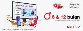Lejel Home Shopping Cicilan 0% 6 dan 12 Bulan dengan Kartu Kredit CIMB Niaga