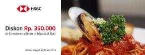 HSBC Visa Fine Dining Diskon Rp350.000