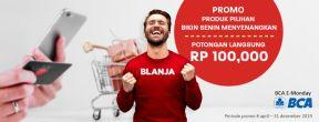 Promo BCA E-Monday di Blanja.com dengan Kartu Kredit BCA