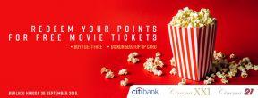 Tukarkan Poin Anda dengan Tiket Gratis Nonton di Cinema XXI dengan Kartu Kredit Citibank