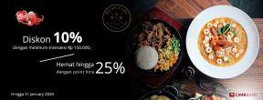 Diskon 10% untuk Makanan dan Minuman di Red Brick Cafe dengan Kartu Kredit CIMB Niaga