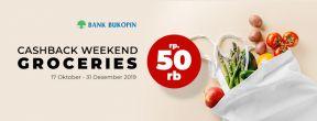 Promo Cashback Weekend Rp 50.000 dengan Kartu Kredit Bukopin