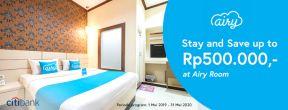 Menginap Hemat Hingga Rp 500.000 di Airy Room dengan Kartu Kredit Citibank