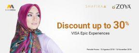 Diskon Hingga 30% di zoya dan Shafira dengan Kartu Kredit Mega