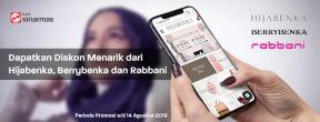 Promo Diskon dari Hijabenka dan Rabbani dengan Kartu Kredit Sinarmas