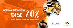 Diskon 20% di Uchino Shokudo dengan Kartu Kredit Mega