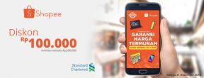 Shopee Monday Deals Diskon 100ribu dengan Kartu Kredit Standard Chartered