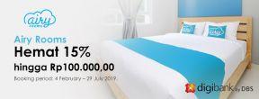 Hemat 15% hingga Rp100.000,00 setiap Senin di Airy Rooms dengan Kartu Kredit DBS