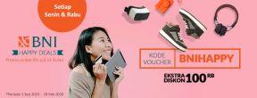 Ekstra Diskon Rp 100.000 di Blibli dengan Kartu Kredit BNI