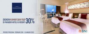 Diskon Hingga 30% di Parador Hotels&Resort dengan Kartu Kredit BNI