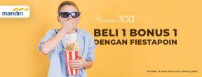 Cinema XXI Beli 1 Bonus 1 dengan Mandiri Fiestapoin