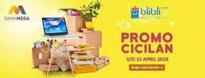 Promo Cicilan 0% di Blibli dengan Kartu Kredit Mega