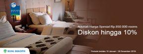 Harga Spesial Rp.850.000 dan Diskon hingga 10% di HotelBlue Sky Hotel Balikpapan dengan Kartu Kredit Bukopin