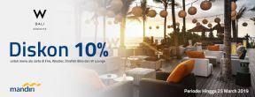 Diskon 10% di Seminyak Bali dengan Kartu Kredit Mandiri