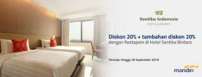 Diskon 20% + Tambahan Diskon 20% di Hotel Santika dengan Kartu Kredit Mandiri