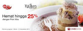 Hemat hingga 25% dengan Poin Xtra di Kalasan Coffee dengan Kartu Kredit CIMB Niaga