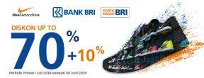 Diskon 70% + 10% Produk NIKE dengan Kartu Kredit BRI