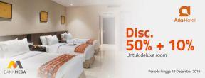 Diskon 50% Di Hotel Aria Barito dengan Kartu Kredit Mega