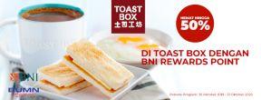 Hemat hingga 50% di Toast Box dengan BNI Rewards Point dan Kartu Kredit BNI