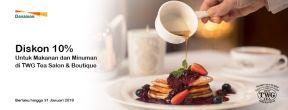 Diskon 10% untuk Makanan dan Minuman di TWG Tea Salon & Boutique dengan Kartu Kredit Danamon