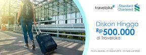 Diskon Hingga Rp500.000 di Traveloka dengan Kartu Kredit Standard Chartered