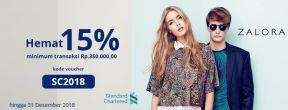 Hemat 15% di Zalora dengan Kartu Kredit Standard Chartered