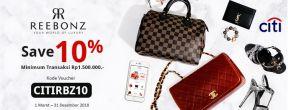Promo Hemat 10% di Reebonz dengan kartu kredit Citi