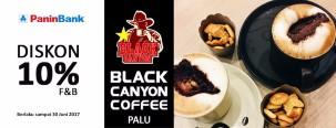 Diskon 10% di Black Canyon Coffee Palu dengan Kartu Kredit Panin