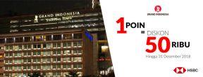 Diskon Rp 50ribu dengan 1 Poin HSBC di Grand Indonesia