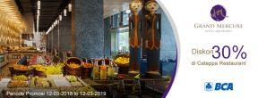 Diskon 30% di Catappa Restaurant Hotel Grand Mercure Jakarta dengan Kartu Kredit BCA