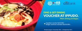 Gratis Voucher Makan di Ippudo dengan Kartu Kredit Citi